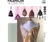 McCalls 9661 accessories brides or bridesmaids purses and scarf sewing pattern