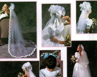 Brides wedding veils and shoe decorations sewing pattern Simplicity 8463