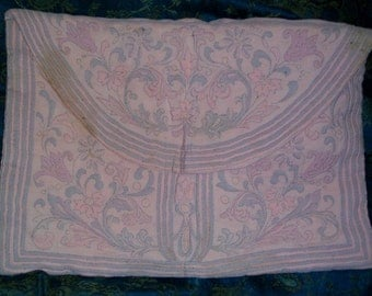 Treasuy Featured 1920s Art Deco Hand Made Silk Traputo Quilted Lingerie Bag Amazing