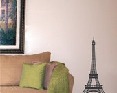 Wall Decal Eiffel Tower Highly Detailed 3 Feet Tall Paris Wall Decor for your Home