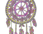 Dreamcatcher Pink- 8x10 Art Print