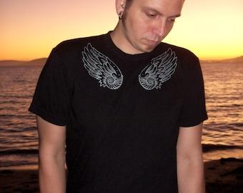 Winged Nautilus Mens T-shirt - Angel Wings Shirt, Nautilus Shell, Ocean Life Shirt