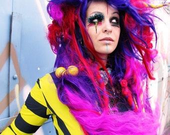 Halloween Party Wig Long huge hair Big Bright Muppet Horn Wild Things Roam, Fake Hair