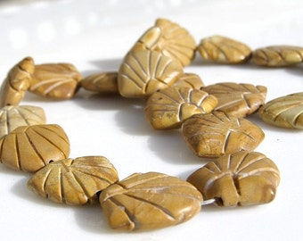 PICTURE JASPER FANS - 4 Beads