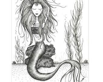 LA MER // 8x10 Mermaid Fine Part Print