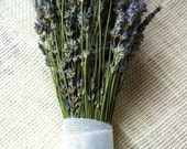 Three Dried Lavender Bouquets with Hand Tied White Cotton Love Knots