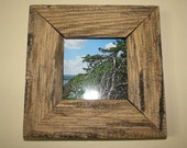 4x4 Rustic Reclaimed Wood Picture Frame