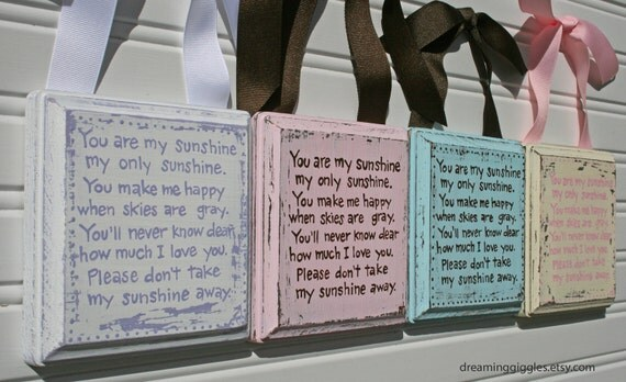5 inch You Are My Sunshine Distressed Shabby Chic Plaque CUSTOM FOR YOU state color choice when purchased