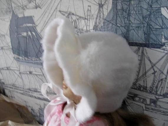 Vintage Infant or Doll Furry Brimmed Hat