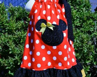 Minnie Mouse Dots Pillowcase dress