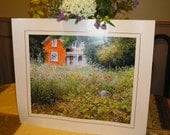 PRINT for Framing or your PAPERCRAFTING  a Wildflower Farmhouse