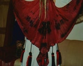 Red Black SilK Fairy WINGS tribal fusion Belly Dance costume ATS gypsy fantasy fairy fusion washable 13 colors 5 sizes