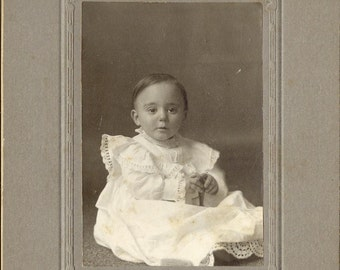 Original Beautiful Baby Antique Photograph to Frame or for Collage, Scrapbooking, Paper Arts, Mixed Media and MORE PSS 1288