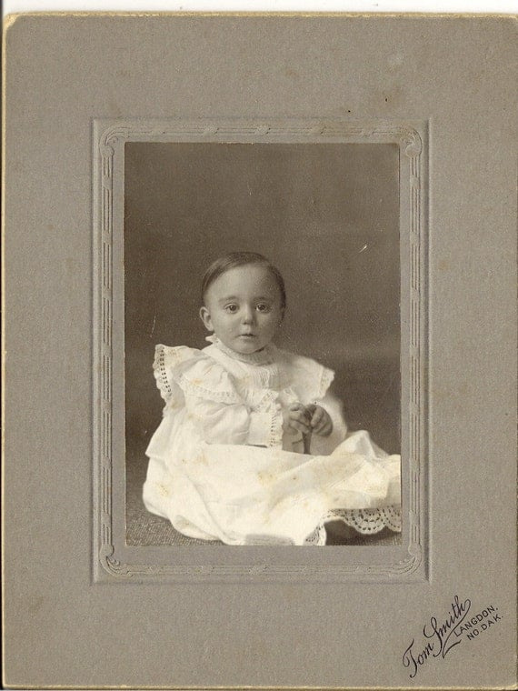 Original Beautiful Baby Antique Photograph to Frame or for Collage, Scrapbooking, Paper Arts, Mixed Media and MORE