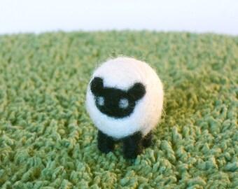 Needle Felted Tiny Sheep Miniature Figurine - Made to Order - Felt Sheep or Lamb Art Doll - Needlecraft Sheep - Felt Farm Animal Sculpture