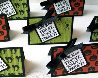 Halloween Favor Bags - Treat Bags and Toppers -Halloween Party Favors - Trick or Treat - Halloween Goody Bags - Halloween Candy Bags