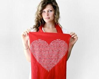 Womens Animal Lover Heart Scarf, gift for women, gift for her, stocking stuffer, jersey cotton, gift for mom, gift for teacher, sister gift