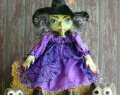 PDF CF266 Fancy Nancy's Hooters Witch Doll Sewing ePattern