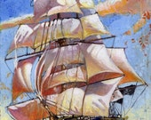 The Pollywogg (Fine Art Print not a real Pirate Ship)
