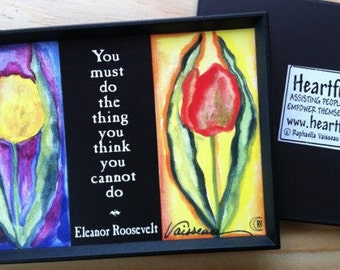 You Must Do Inspirational Quote ELEANOR ROOSEVELT Magnet Motivational Print Sayings Classroom Decor Gift Heartful Art by Raphaella Vaisseau