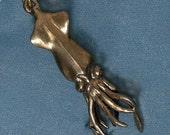 Squid Bronze Pendant