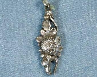 Chrysanthemum Sterling Silver Pendant Charm