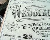 Wedding invitations: Carnival wedding, circus wedding