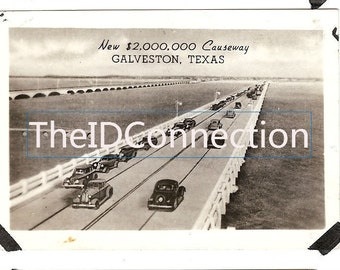 Galveston Causeway Landmark Photograph, Boat, Shrimp Boats, Galveston Texas Gulf of Mexico Beach Boulevard 92F