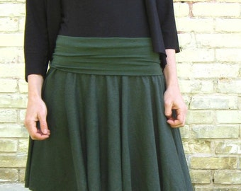 Organic Cotton & Hemp Short Circle Skirt