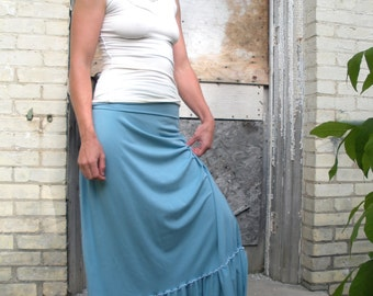 Organic Cotton & Organic Cotton Long Ruffled Skirt