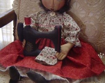 DOLL sewing ePattern PRIMITIVE Folk Art Cloth dolls