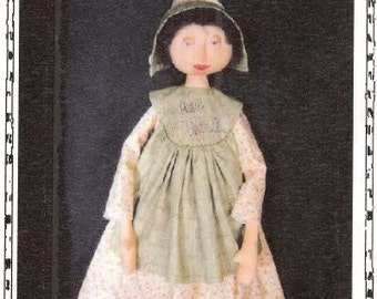 Primitive Doll ePATTERN, Folkart doll, Pilgram, Thanksgiving, pattern, Holiday Apron