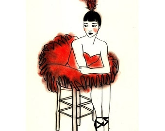 Fashion ballet drawing Russian Ballerina - 4 for 3 SALE  4 X 6 print
