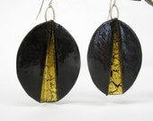 Fold Form Enamel Earrings No. 2
