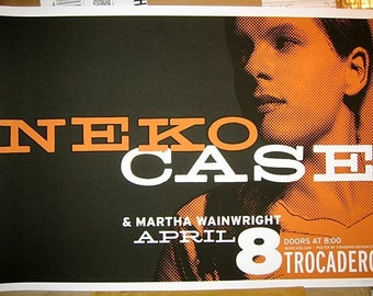 Neko Case show poster (gig poster screenprint rock show live)