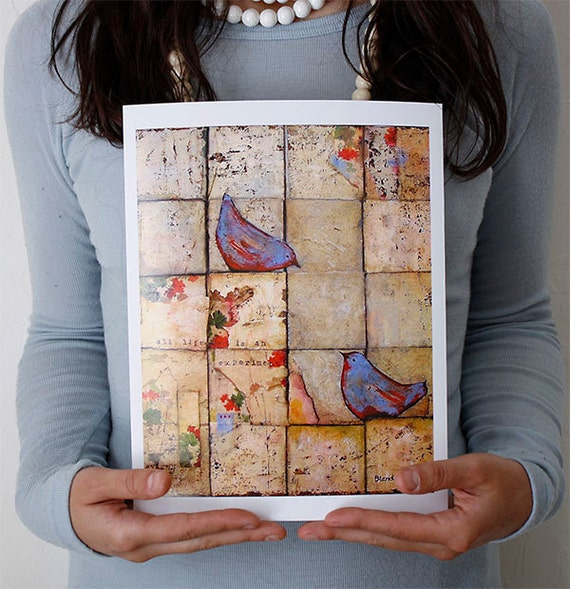 Blue Bird of Happiness, 8X10 Print