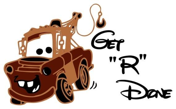 Mater from Disney Movie Cars  Vinyl Wall Art