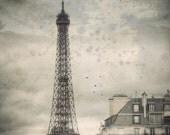 Black and white photography, Paris Decor, Paris Photography, Lanscape photography, France, Photograph Art Print, Paris photo, 6x6 (15x15cm) - PhotographyDream
