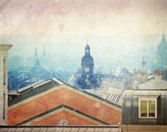 Rooftops View, Paris Photography, Paris Rooftops, Paris Rooftops Photo, Paris bedroom decor, French art, paris print,paris decor, paris art