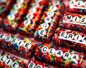 Name Necklace in Sprinkles, Cute Jewelry, The Original Personalized Custom Name Rainbow Sprinkles Resin Necklace - handmade by isewcute