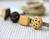 Food Jewelry - Cookie Ring - Choose your Favorite Biscuit, Cookie, Heart or French Butter - Cookie Collection
