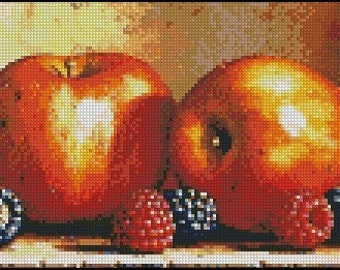APPLES AND BERRIES cross stitch pattern No.224