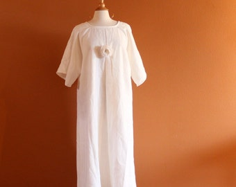 custom plus size pleated flower linen dress made to measure listing