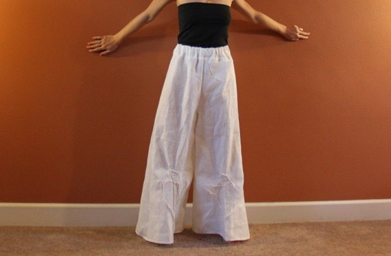 mid weight linen rose tucks super wide leg pants plus size custom order listing