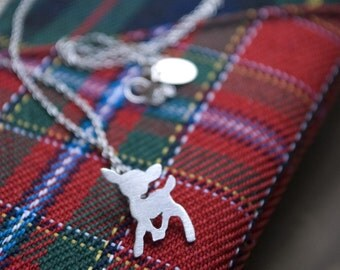 adorable lil' woodland fawn deer - necklace