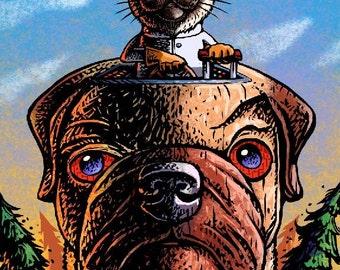 Professor Hyperbole Test Drives His Cyborg Zombie Pug