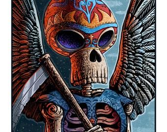 "La Muerte 11"" x 14"" Art Print"