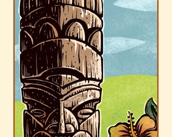 "Eternal- 8"" x 10"" Tiki Wall Decor"
