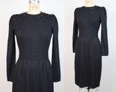 St John knit dress | vintage santana knit dress | black sweater dress | sequinned dress | S