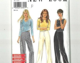Misses Sewing Pattern New Look 6891 Wide Leg Pants Size 6 8 10 12 14 16 Waist 23-30 UNCUT